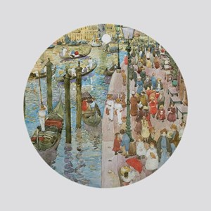 Grand Canal, Venice by Prendergast Round Ornament