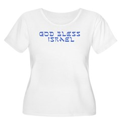 bumper-god-bless-israel.jpg Plus Size T-Shirt