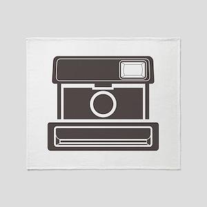 Vintage Instant Camera Throw Blanket