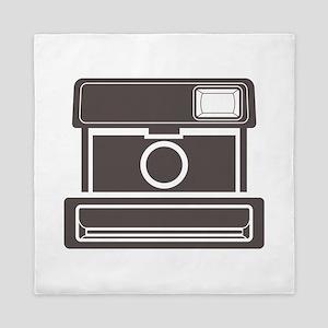 Vintage Instant Camera Queen Duvet