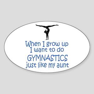 Gymnast...just like Aunt Oval Sticker
