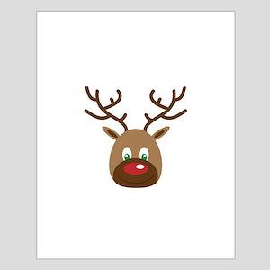 Cute Red Nose Reindeer Poster Design