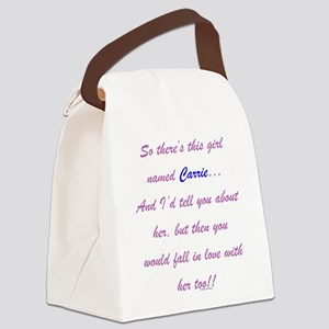 Girl Named Carrie Canvas Lunch Bag