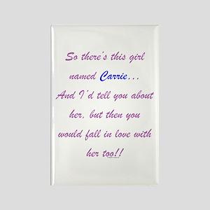 Girl Named Carrie Rectangle Magnet