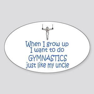 Gymnast...just like Uncle Oval Sticker