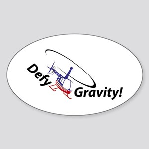Defy Gravity R44Flag Oval Sticker