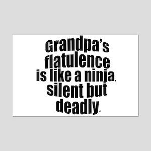 Grandpa's Flatulence Mini Poster Print
