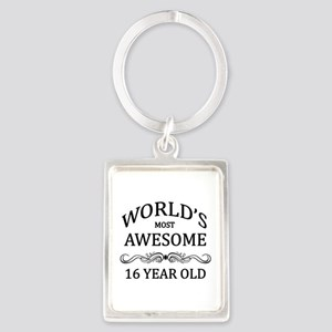 World's Most Awesome 16 Year Old Portrait Keychain