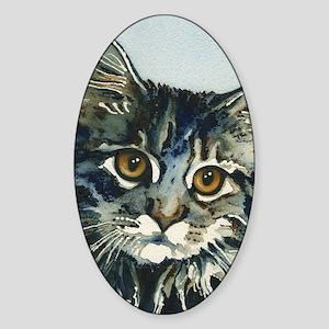 Elfin Maine Coon Cat Sticker (Oval)