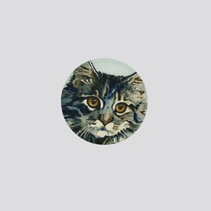 Elfin Maine Coon Cat Mini Button