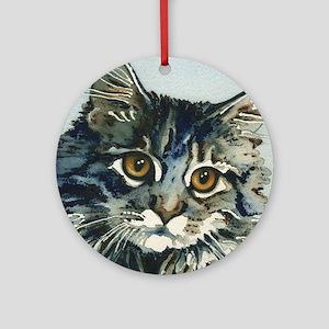 Elfin Maine Coon Cat Round Ornament