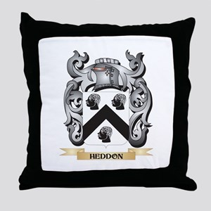 Heddon Coat of Arms - Family Crest Throw Pillow