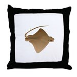 cownose ray f Throw Pillow