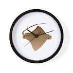 cownose ray f Wall Clock