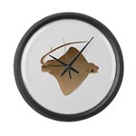 cownose ray f Large Wall Clock