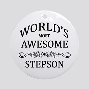 World's Most Awesome Stepson Ornament (Round)