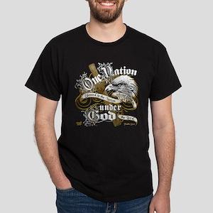 UnderGodEagle gold-blk tee T-Shirt