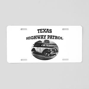 Texas Highway Patrol Aluminum License Plate