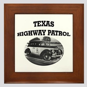 Texas Highway Patrol Framed Tile