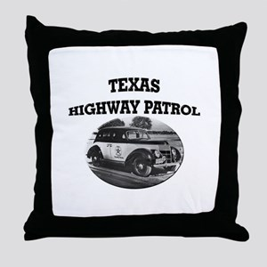 Texas Highway Patrol Throw Pillow