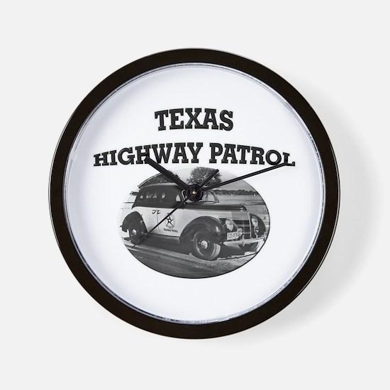 Texas Highway Patrol Wall Clock