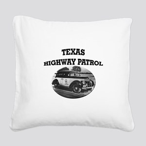Texas Highway Patrol Square Canvas Pillow
