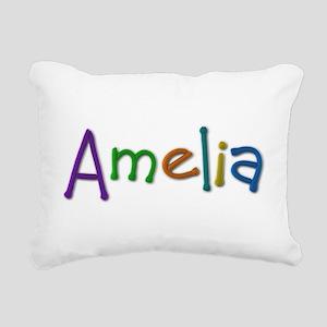 Amelia Play Clay Rectangular Canvas Pillow