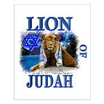 Lion of Judah blue Small Poster