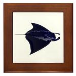 Manta Ray f Framed Tile