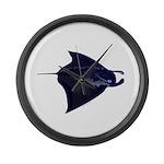 Manta Ray f Large Wall Clock