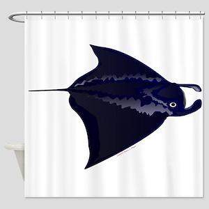 Manta Ray f Shower Curtain