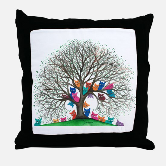 Connecticut Stray Cats Throw Pillow