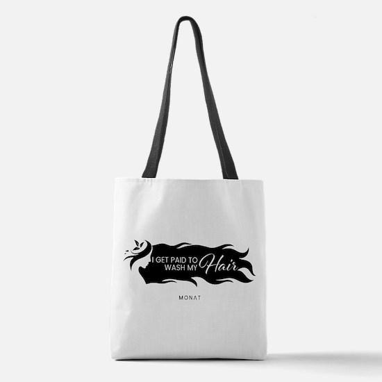 Unique Black Polyester Tote Bag