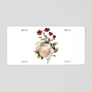 Redoute Bouquet Aluminum License Plate
