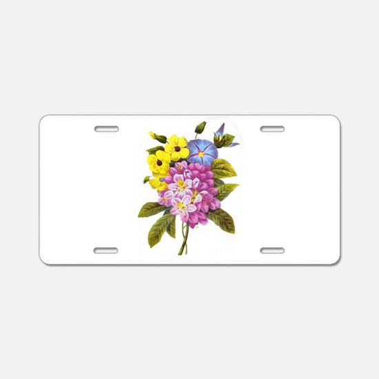 Redoute Bouquet Aluminum License Plate