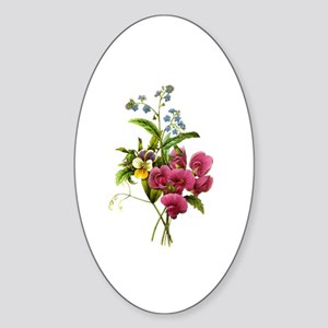 Redoute Bouquet Sticker (Oval)