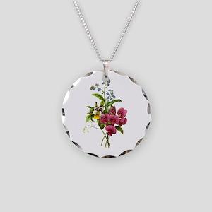 Redoute Bouquet Necklace Circle Charm