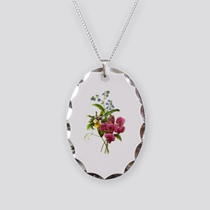 Redoute Bouquet Necklace Oval Charm