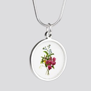 Redoute Bouquet Silver Round Necklace