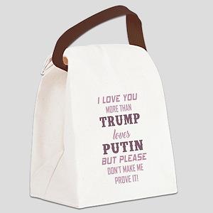 TRUMP loves PUTIN Canvas Lunch Bag
