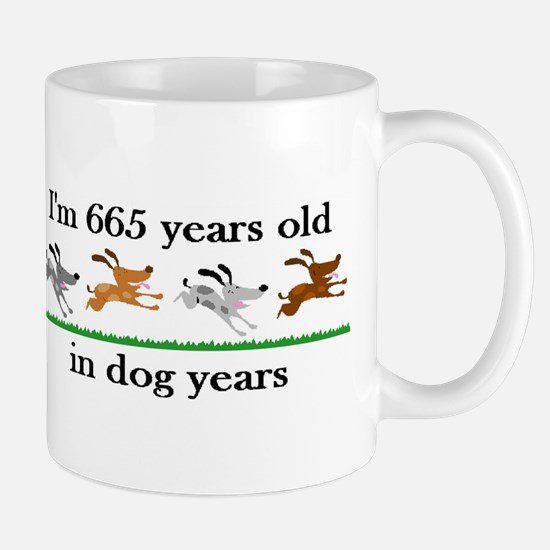 95 dog years birthday 2 Mug