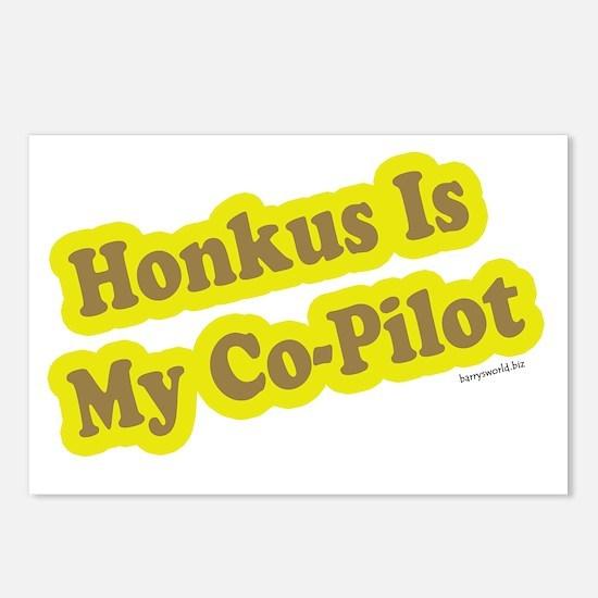 Honkus Is My Co-Pilot Postcards (Package of 8)