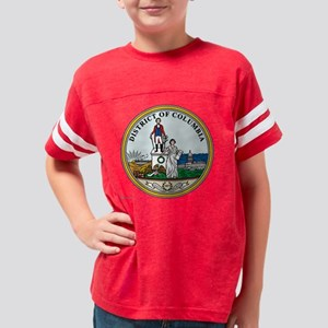 District of Columbia template Youth Football Shirt