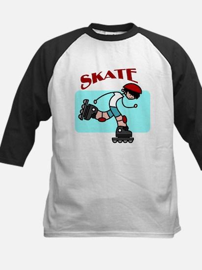 Skater Boy Kids Baseball Jersey