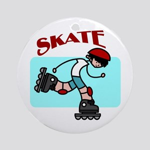 Skater Boy Ornament (Round)