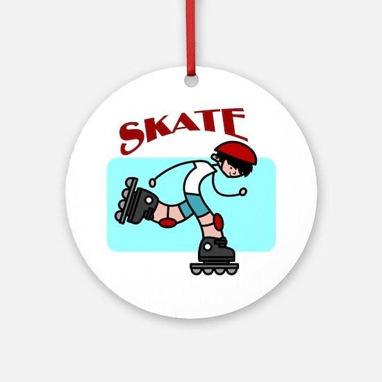 Skater Boy Ornament (Round)