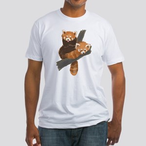 Red Pandas Fitted T-Shirt