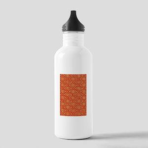Rust Pinwheel Whimsy 23 Water Bottle
