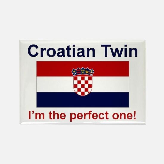 Perfect Croatian Twin Rectangle Magnet