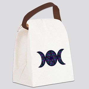 Stained Glass Pentacle Goddess mo Canvas Lunch Bag